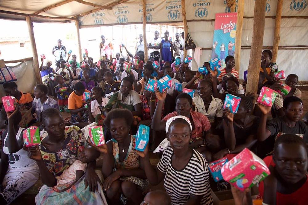 Young Girls and Women in Pagirinya refugee settlement
