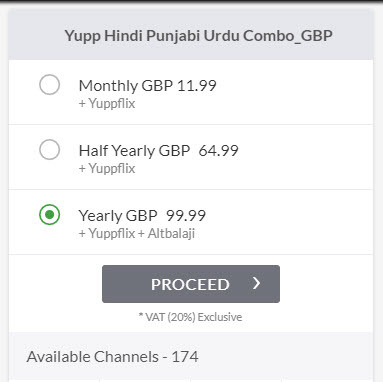 YuppTV UK Subscription Cost