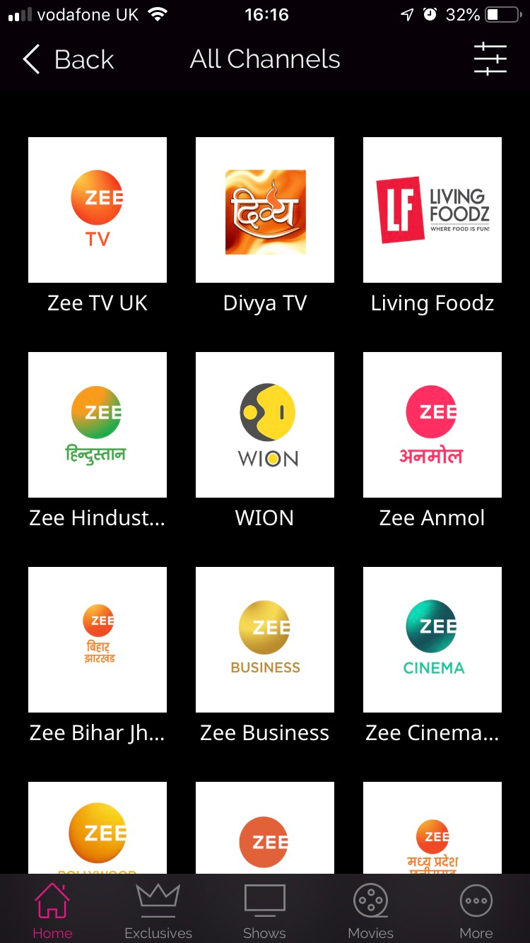 Zee5 Asian TV Channels