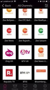 Zee5 TV Channel List