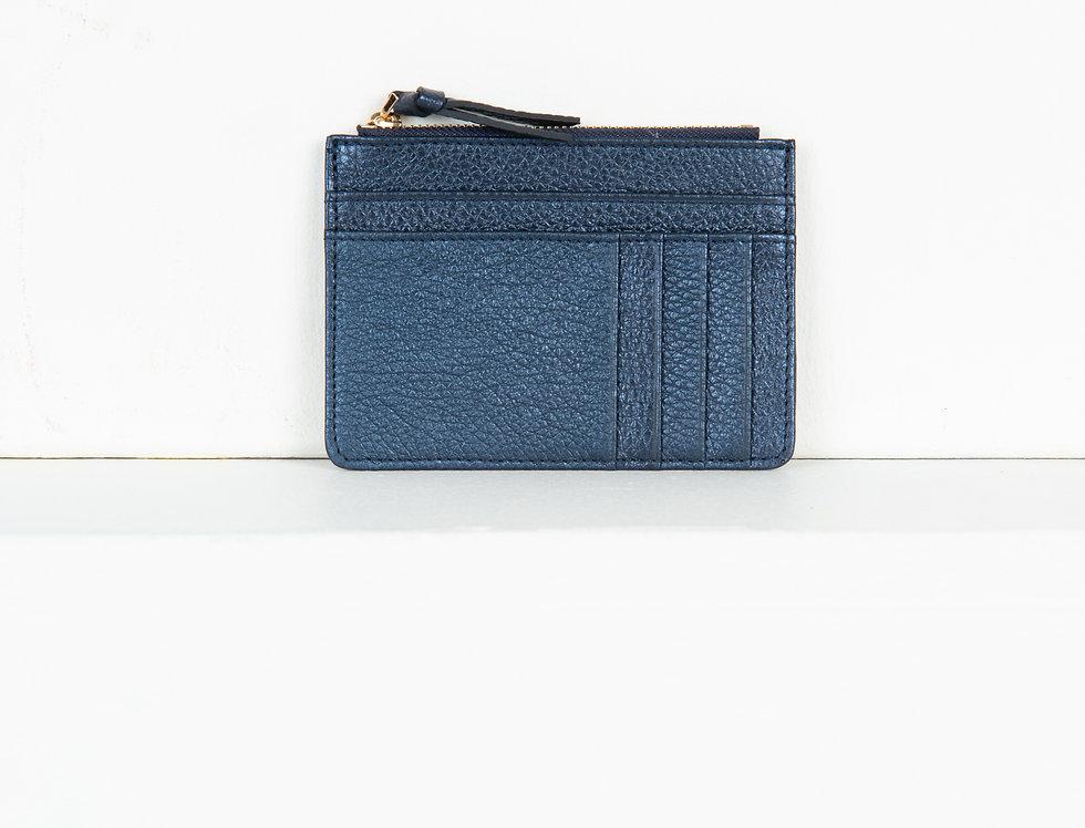 Mia purse - metallic navy blue