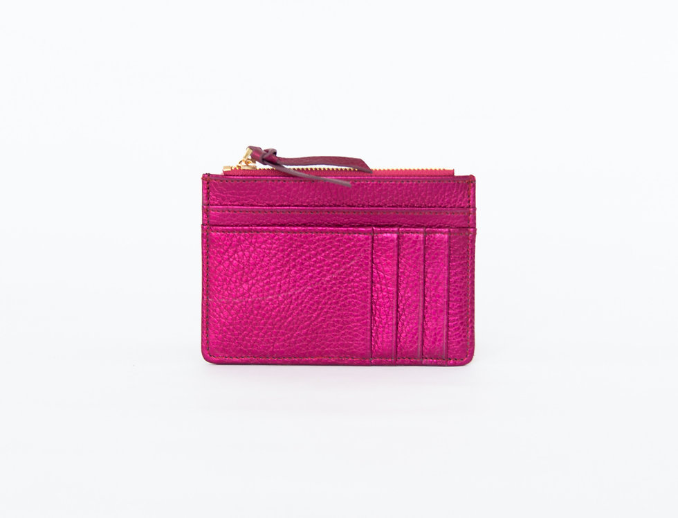Mia purse - fuschia metallic