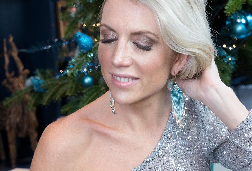 Beaded earrings - Dusty Blue