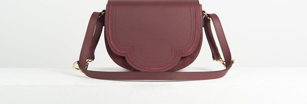Luna crossbody - burgundy leather and suede