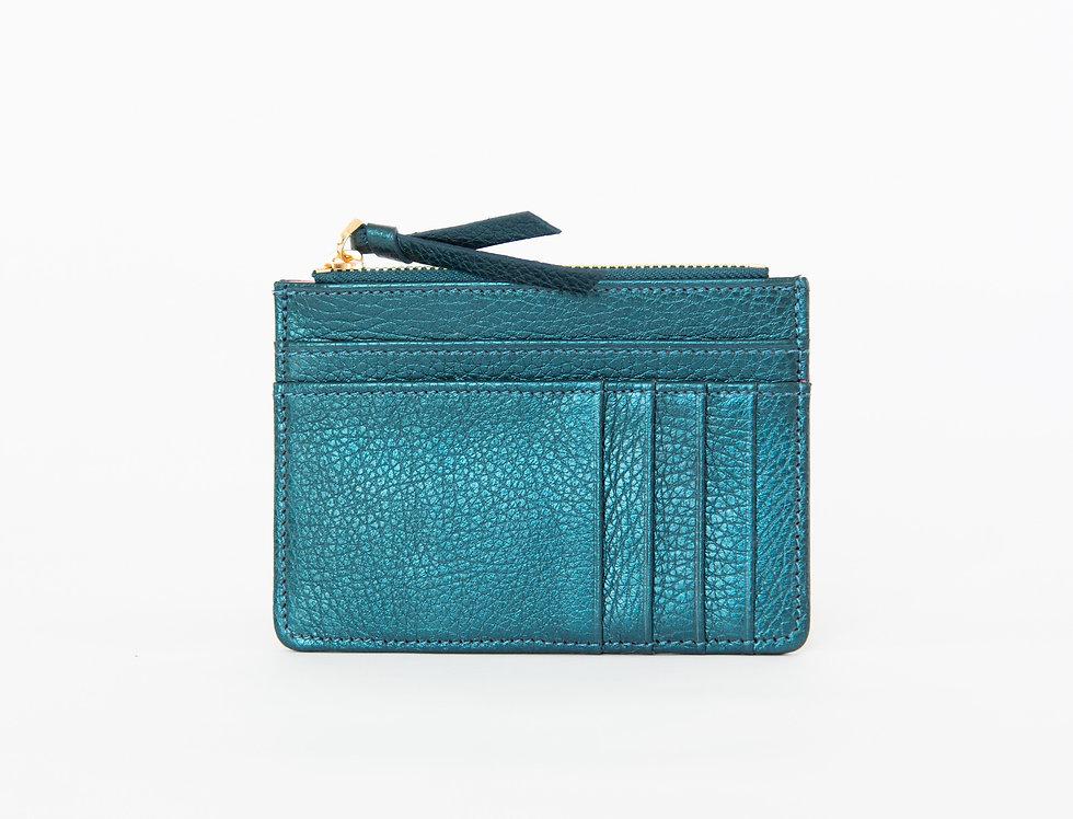 Mia purse - teal metallic