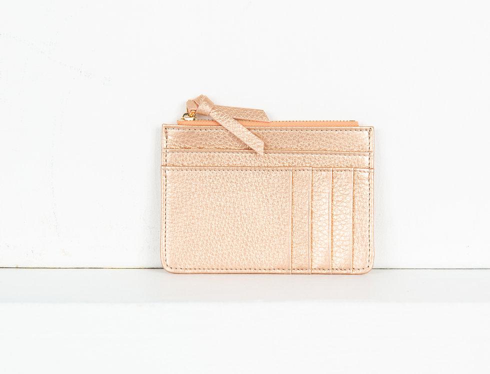 Mia purse - metallic rose gold