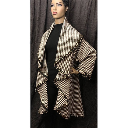 Houndstooth Circle Duster Coat