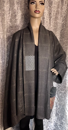 Gray One Sleeve Cape