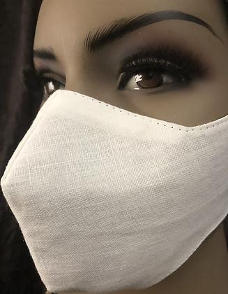 White Linen Mask