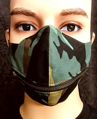 Camouflage Horizontal Zipper Mask