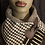 Thumbnail: Houndstooth & Mud-Cloth Neck Wrap