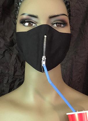 Drinking Mask w/ vertical zipper