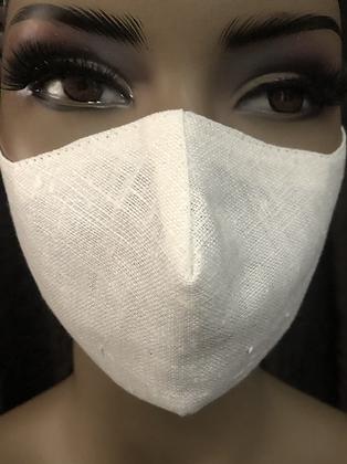 Off White Linen Mask