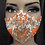 Thumbnail: Tangerine w/ Gold Sequin Lace Mask