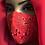 Thumbnail: Red Lace Appliqué Mask