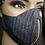 Thumbnail:  Pinstripe Denim Zipper Mask