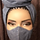 Thumbnail: Light Denim Rhinestoned Face Mask