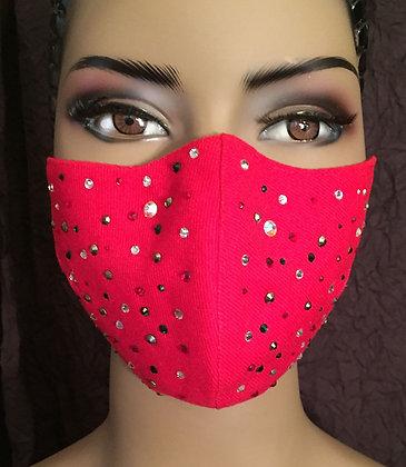 Red Rhinestoned Mask