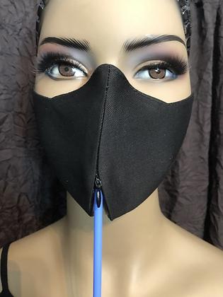Black Invisible Zipper Mask