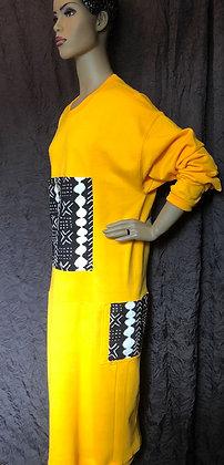 Yellow Sweatshirt Dress