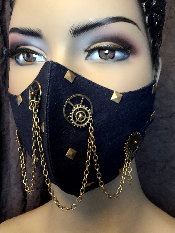 Denim Steampunk Mask