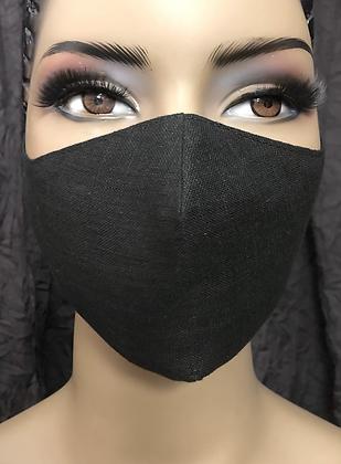 Black Linen Mask
