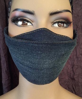 Folded Dark Denim Mask