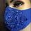 Thumbnail: Royal  Blue Sequin Lace Mask