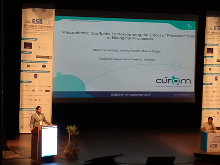 The Biggs Lab Presents New Research at the 28th EuropeanSociety for BiomaterialsMeeting in Athens