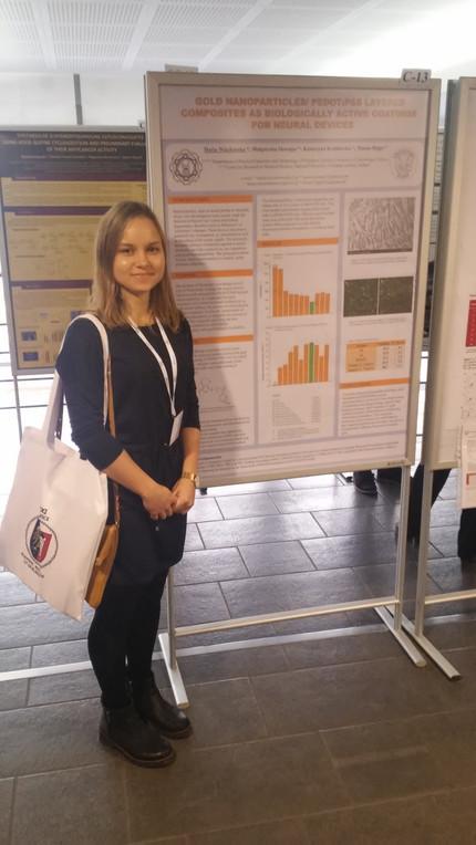 Best Poster Presentation Award at Gliwice Scientific Meeting for Daria Wieclawska!