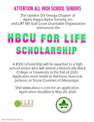 HBCU for Life Scholarship Application.jp