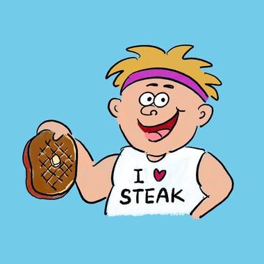 ステーキ食べない?
