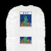 NYC バックプリント ロンT