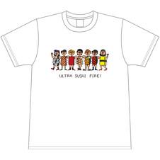 7人組バンド「ウルトラ寿司ふぁいやー」グッズデザイン