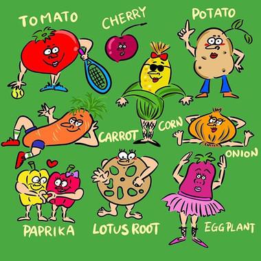 野菜たち🍅🍆🥑
