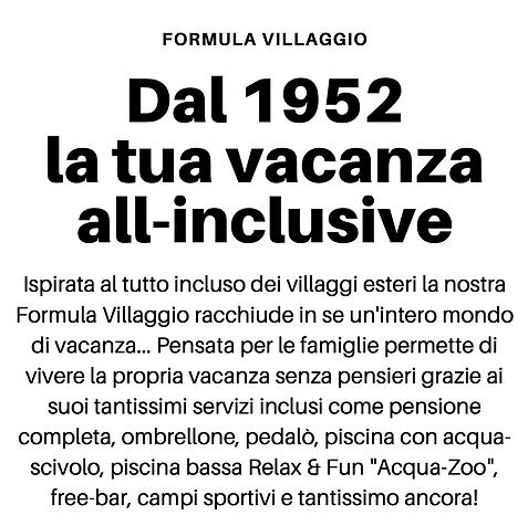 Dal 1952 la tua vacanza all-inclusive.pn