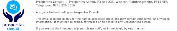 Prosperitas Consult Email Signature Bloc