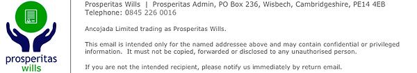 Prosperitas Wills Email Signature Block.