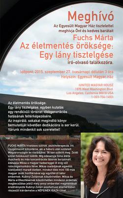 Flyer for Magyar Ház presentation