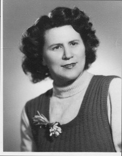 Ilona Engel Fuchs, circa 1950:51, Tokaj,