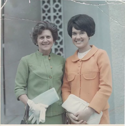 Mom and Marta, Pasadena, 1968