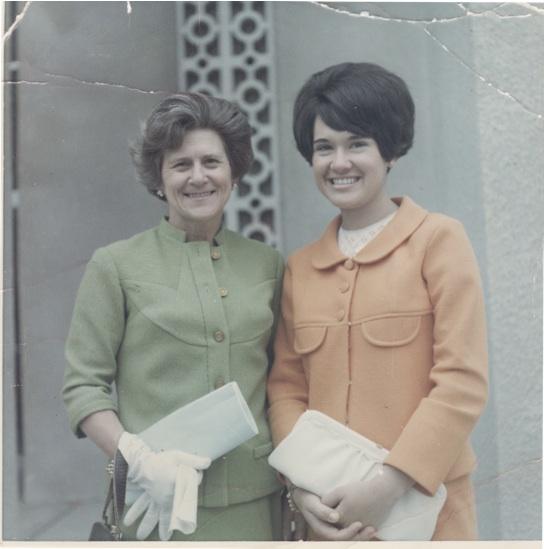 Mom and Marta, Pasadena, 1968