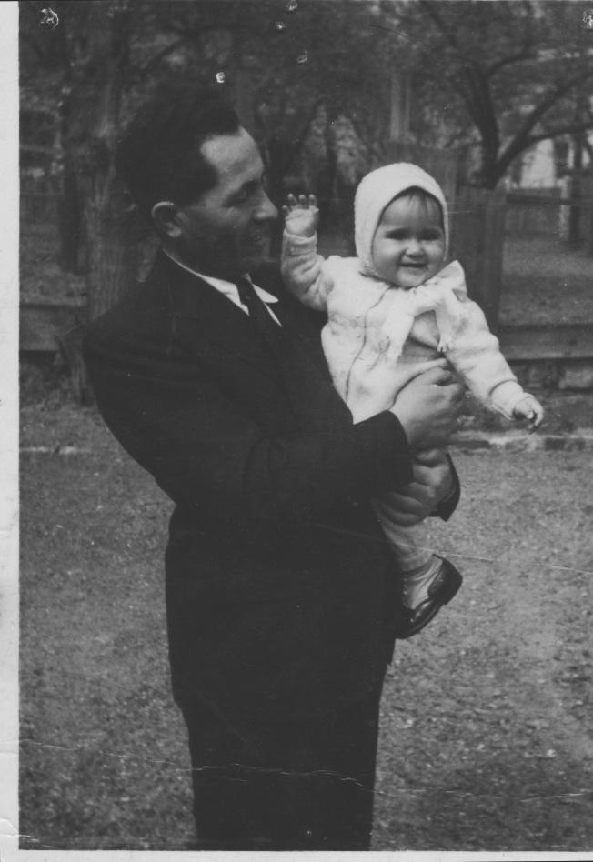 Dad and Marta, Tokaj, 1950