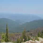 View north from Andys Hump, Idaho
