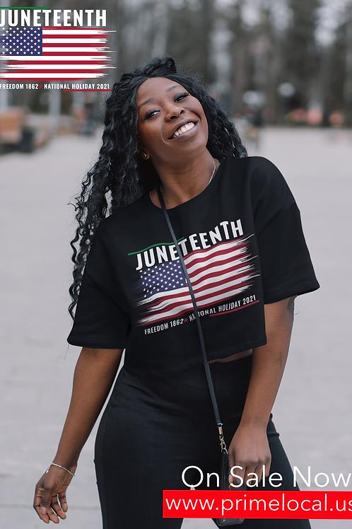 Juneteenth Women's Crop T-Shirt