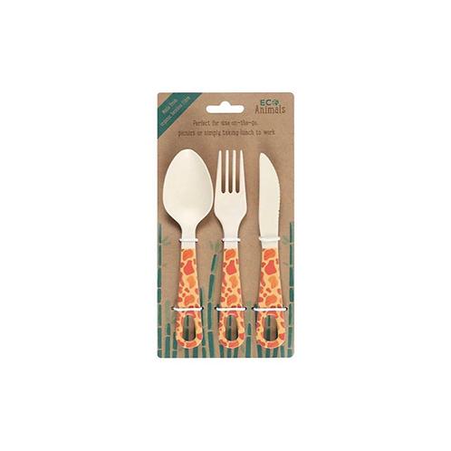 Gordon Giraffe Bamboo Cutlery Set