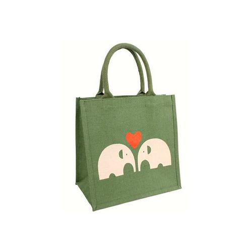Jute Elephant Shopping Bag