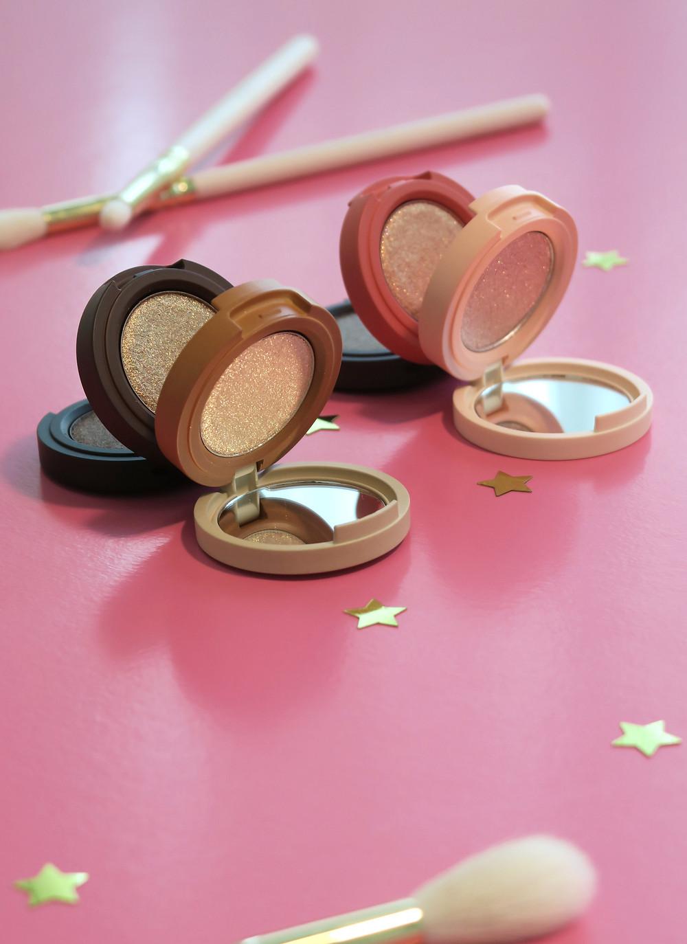 kaja beauty bento bouncy shimmer eyeshadow trio review
