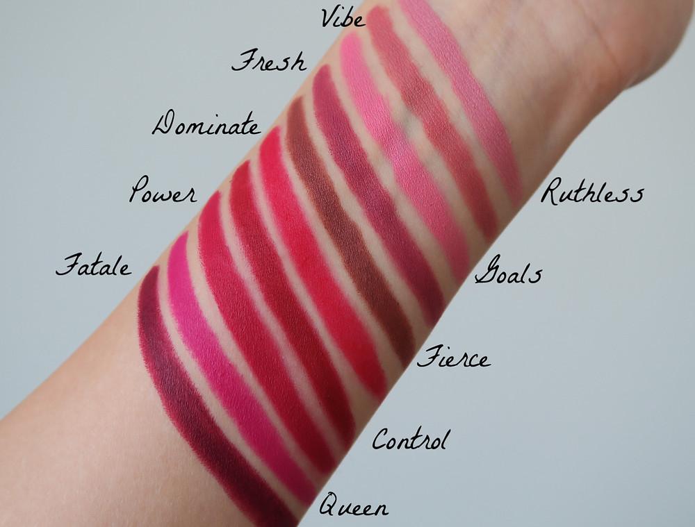 laura mercier velour extreme matte lipstick review swatches