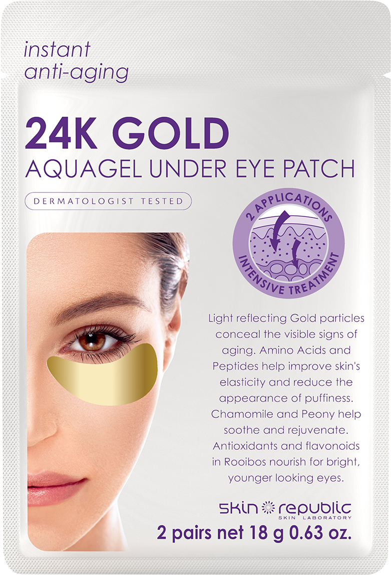 skin republic 24k gold aquagel under eye patch review